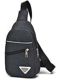 Chang Spent Deportivas de lona de pecho Pack hombres bolso grande mensajero bolsas baodan pequeña al aire libre hombro bolsa de mensajero , black
