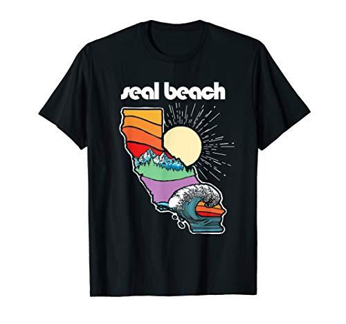 Seal Beach California Outdoors Retro Nature Graphic T-Shirt -