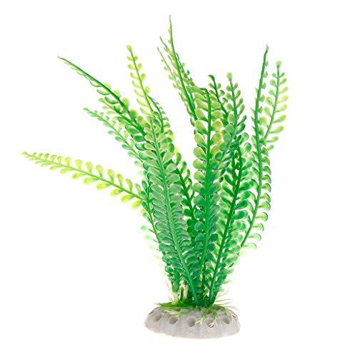 Biniwa Wasserpflanze Grünes Gras künstliche lebensechte Dekoration lebendige Landschaft für Aquarium Aquarium Simulation Kunststoff ungiftig Pflanzen Indoor Garten