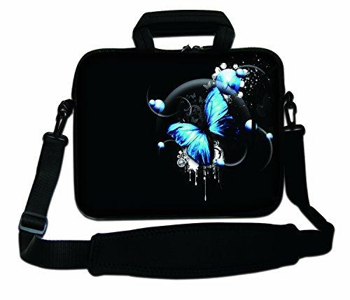 Luxburg Schultertasche Notebooktasche Laptoptasche Tasche mit Tragegurt aus Neopren Plus Free Mouspad! Für Apple, Acer, ASUS, Chromebook, Dell, HP, Lenovo, Samsung, Sony etc Laptop 17,3 Zoll