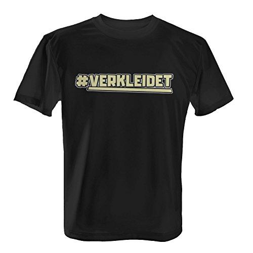 T-Shirt - # Verkleidet | Fun Shirt mit Hashtag | Verkleidung für Karneval Fasching Rosenmontag Halloween Kostüm Party, Farbe:Schwarz;Größe:L (Lustige Hashtags Für Halloween)