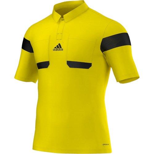 Adidas Schiedsrichter Trikot Referee Jersey Kurzarm UCL 2013/14 Herren Neongelb-Schwarz, G73815_Größe:M