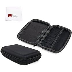 """Housse rigide de protection 6"""" pour GPS TomTom GO 620 et GO 6200 - en nylon noir + chiffon, par DURAGADGET"""