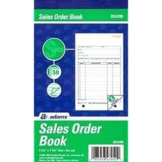 Adams Sales Order Book 4.25 X 7 Carbonless 2 Part by Adams