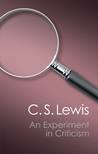 An Experiment in Criticism Paperback (Canto Classics) por Lewis