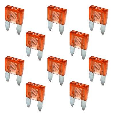 10 Flachstecksicherung Mini-Sicherung 10A / 32V / rot -