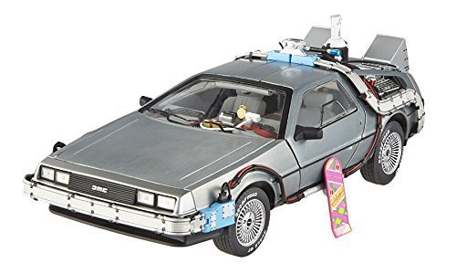 Elite Cult Classics Back To The Future Time Machine Delorean with Extras and Mr. Fusion 1/18 by Hotwheels BCJ97 by Hotwheels (Back To The Future Time Machine)