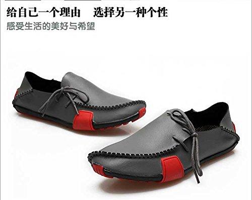 Gaorui Herren Mokassins Bootsschuhe Halbschuhe aus PU Leder Schwarz Braun 3 Farbe 6 Größe Braun