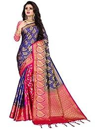 Nirja Creation Women's Banarasi Silk Saree With Blouse Piece
