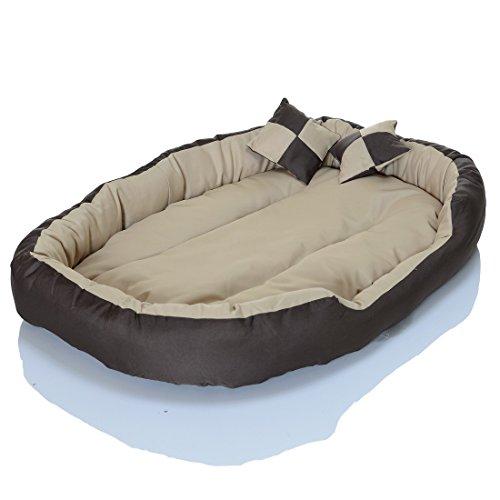 4in1 Hundebett XXL – kuscheliges, waschbares Hundekissen Sofa – Hundekorb Farbe: Creme Gr. L - 2