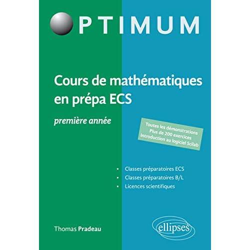 Cours de mathématiques en prépa ECS 1re année