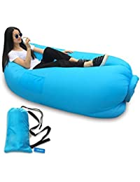 PAGALYetrade Fast Inflatable Portable Hangout Lazy Air Bag Sofa Bed Suitable For Camping, Travel, Beach And Other...
