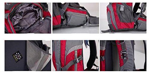 zaino trekking Zaino tracolla Sport Alpinismo Bag Men & Women Esterni zaino a tracolla escursionismo Borsa ridotto impermeabile e traspirante Zaino 38L Zaini da escursionismo ( Colore : Red 38L ) Red 38L
