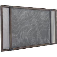 Insektenschutzrahmen Schiebfix / Fliegengitter / für Fenster, Balkontür, Terrassentür mit Rollladenführung, 75 x 50 cm (ausziehbar bis 142 cm)