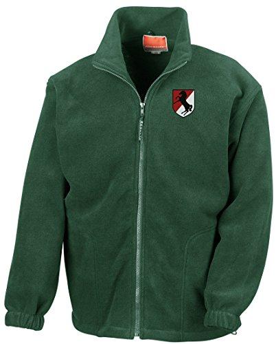 d Cavalry Embroidered Logo - Full Zip Fleece By Military online (Vietnam-veteran-fleece-jacke)