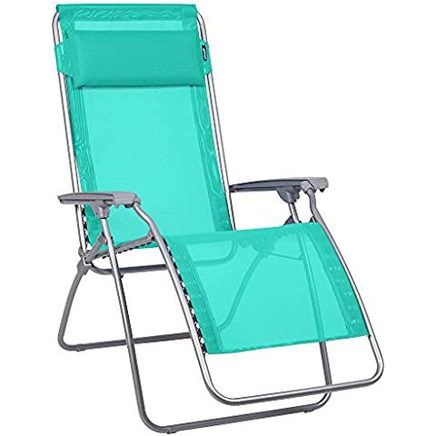 Lafuma LFM4007-7904 - Silla silla relax r clip de cremallera, textil, verde esmeralda / verde / plata