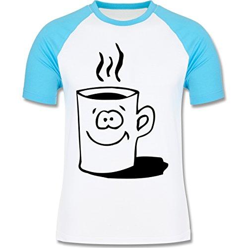 Küche - Tasse - zweifarbiges Baseballshirt für Männer Weiß/Türkis