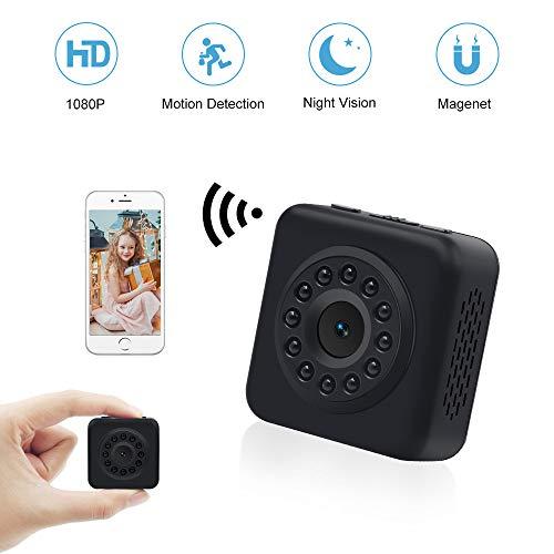 Kleine Kamera WiFi LXMIMI Wireless Mini Kamera 1080P Mini WLAN Überwachungskameras mit Bewegungserkennung und Infrarot Nachtsicht IP Sicherheit Kameras für iPhone/Android Phone/iPad (Mini Wireless-kamera)