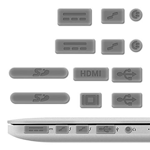 Protection Mac Book Pro 13 - kwmobile 12x bouchons de protection anti-poussière pour