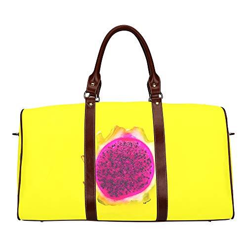 Travel Duffel Bag Schöne frisch geschnittene rote und weiße Drachenfrucht wasserdichte Weekender-Tasche Übernacht-Tragetasche Handtasche für Damen Damen-Einkaufstasche mit Mikrofaser-Leder-Gepäcktasc
