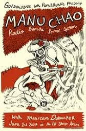 MANU CHAO - Limited Edition Concert Poster - by Ivan Minsloff
