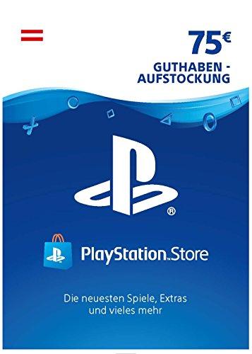 PSN Card-Aufstockung | 75 EUR | österreichisches Konto | PSN Download Code