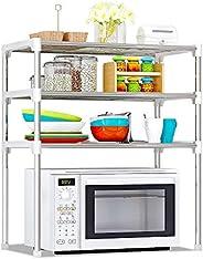 3-Tier Multi-functional Kitchen Storage Shelf Rack Microwave Oven Shelving Unit