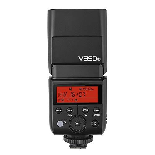 Godox V350F Fuji Version Flash Speedlite Blitzgerät 2.4G Drahtlose Master / Slave TTL Auto Blitz 1 / 8000s High Speed Sync Eingebaute Lithium Batterie mit Ladegerät für FULIFILM Kamera Familie. - Familie-batterie-ladegerät