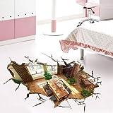 3D Wandtattoo Wandtattoo Schlafzimmer Wandsticker3D-Stereo-Schlafzimmer, Bad, Bodenfliesen, Raumdekoration, Wasserdichte Tapete, Selbstklebende Boden Wandaufkleber, A