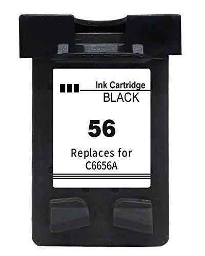 Inkseller Druckerpatrone für HP 56 Kompatibel Schwarz Black