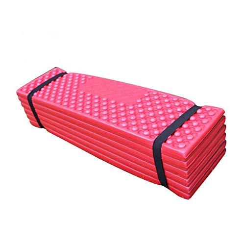 SparY Isomatte Strand Schaumstoff Außen Feuchtigkeit Beweis Matte Zelt Piknik Ultraleicht Zelten Wasserfest Zusammenfaltbar (Rot+Schwarz) - Rot+Schwarz - Feuchtigkeit-beweis-matte