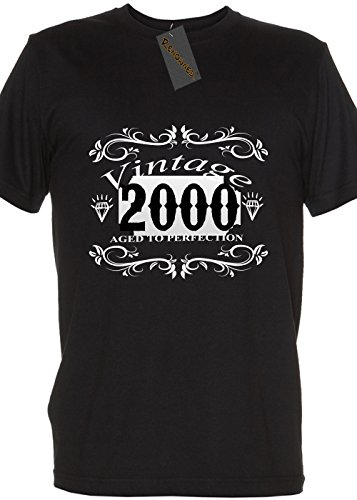 Mike Camicie Vintage nati nel 2000Aged to perfection da donna T Shirt Black