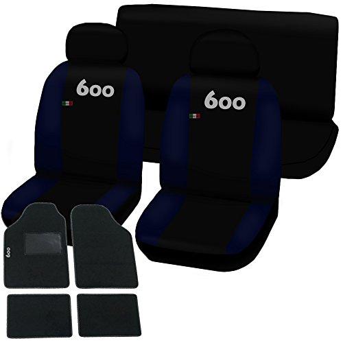 Lupex Shop 600-TMB_NBS Coprisedili e Tappetini, Nero/Blu Scuro