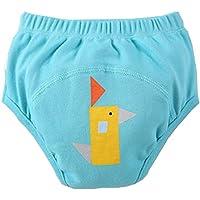 [Resumen] bebé pantalones del entrenamiento del tocador del pañal de la ropa interior del pañal del paño 13.2-19.8Lbs