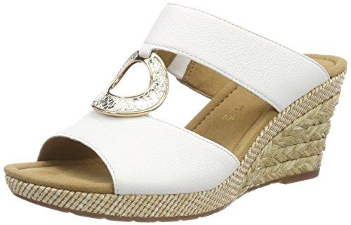 Gabor Shoes Damen Comfort Sport Pantoletten, (Weiss Bast), 40.5 EU