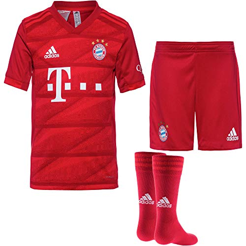 adidas Performance Kinder Fußball-Set Trikot, Shorts und Socken FC Bayern München Mini-Heimausrüstung - Replica rot (500) 116