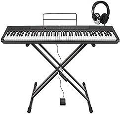 SDP-2 Stage-Piano von Gear4music mit Ständer Pedal und Kopfhörer
