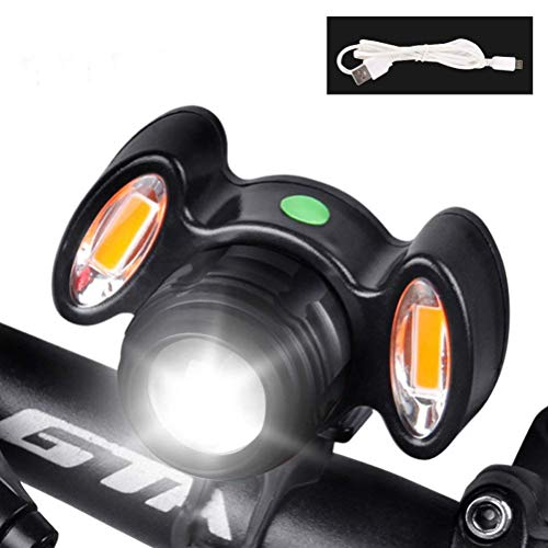 MUTANG Wasserdichtes Fahrradlicht, wiederaufladbare super helle Fahrradfrontleuchte, 4 Modi einstellbare Helligkeitswarnleuchte LED-Scheinwerfer (Farbe : A) - Led 9 Fahrrad-licht
