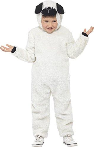 Schaf Schwarze Kinder Kostüm (Smiffy's 21788L - Kinder Unisex Schäfchen Kostüm, Alter 10-12 Jahre, One Size,)