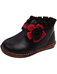 Zolimx Krabbelschuhe Baby Warm Mädchen Booties Floral Sneaker Stiefel Freizeitschuhe