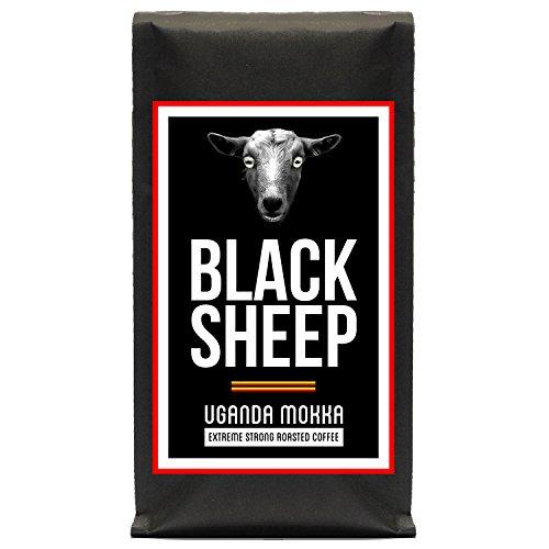 Black Sheep Coffee - Uganda Mokka   Ganze Bohnen Röstkaffee aus Uganda   Starker Kaffee mit wenig...