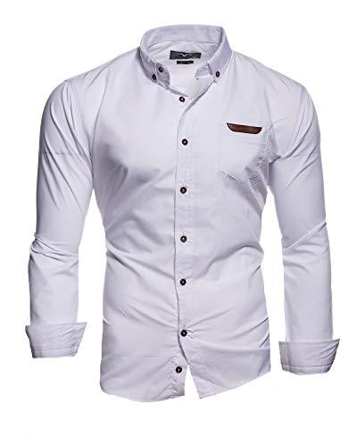 Kayhan Herren Hemd Slim Fit Bügelleicht- Gr. XL, Arizona Weiß