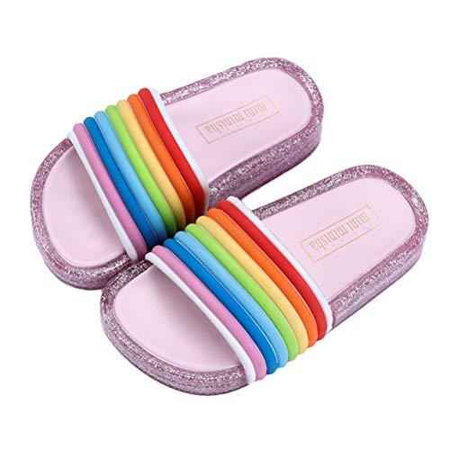 BIUU Mädchen Sandalen LED-Blinklicht Jungen-offene Zehen-Pantoffel Home Schuhe für den Sommer im Freien Garten Größe 24-35,05,30