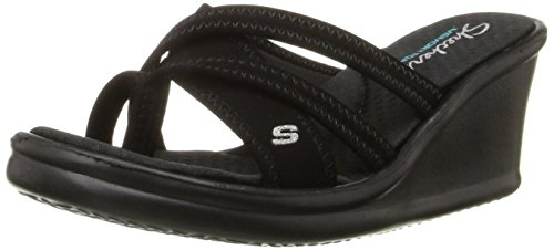 Skechers Rumblers Young At Heart, Women's Heels Sandals, Black, 7 UK (40...