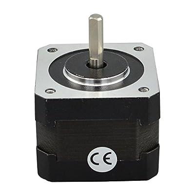 STEPPERONLINE Nema17 Schrittmotor 26Ncm 1.8deg 300mm Kabel 12V 0.4A für Hobby CNC 3D Drucker und Roboter DE082