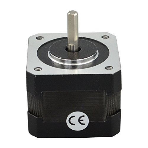 STEPPERONLINE Nema17 Schrittmotor 26Ncm 1.8deg 300mm Kabel 12V 0.4A für Hobby CNC 3D Drucker und Roboter DE082 Test