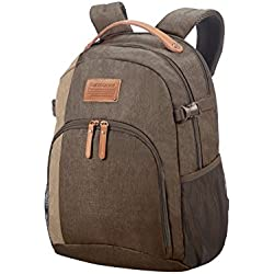 "SAMSONITE Rewind Natural - Laptop Backpack Medium for 15.6"" Mochila Tipo Casual, 46 cm, 23 Liters, Gris (Rock)"