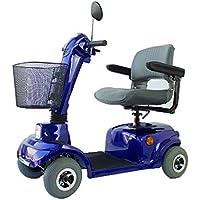 Mobiclinic Scooter eléctrico con 4 Ruedas   Plegable   Compacto   Color Azul   Mod.