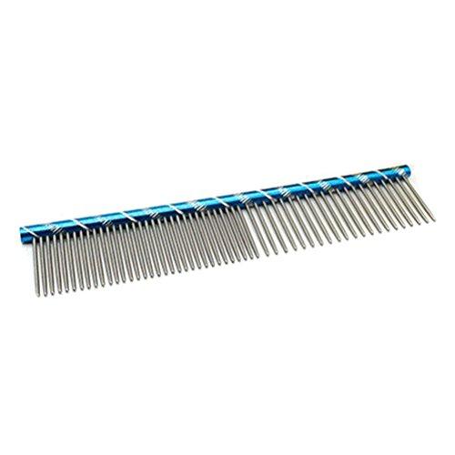 Ueetek pettine per cani animali domestici toelettatura pettine in acciaio inox (blu)