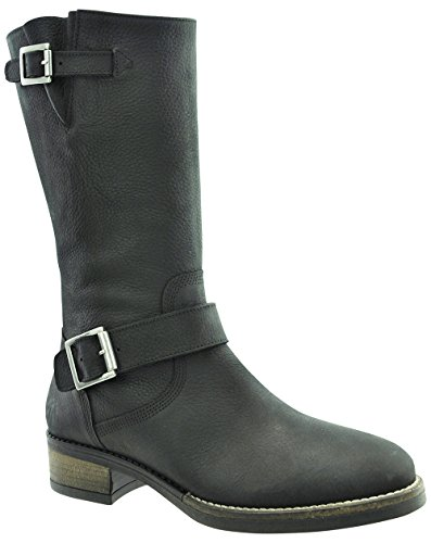 JJ Footwear, Stivali donna Schwarz Grain Nubuck